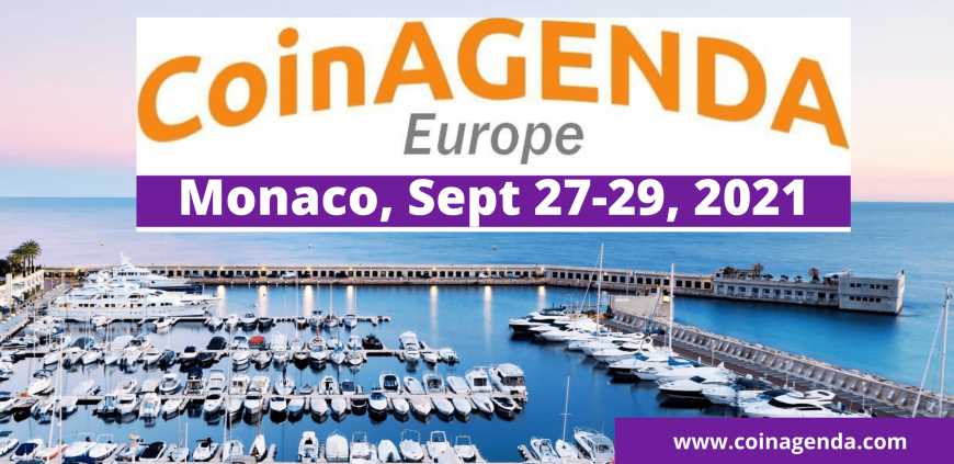CoinAgenda Europe Gathers Blockchain Leaders for Sept 27-29 Monaco Event